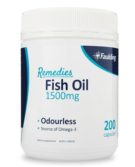 Faulding Remedies Fish Oil 1500mg Soft Gel Cap X 200