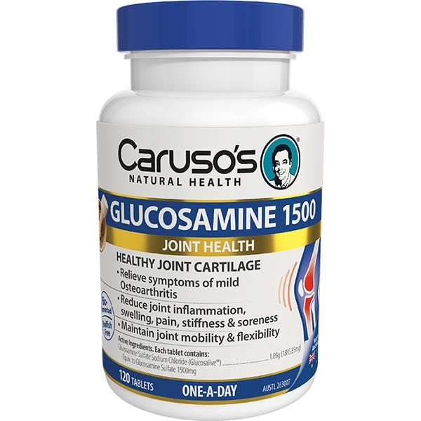 Caruso's Natural Health Glucosamine 1500mg Tab X 120