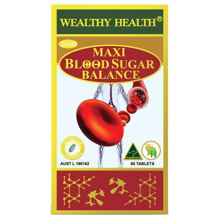 Wealthy Health Maxi Blood Sugar Balance Tab X 60
