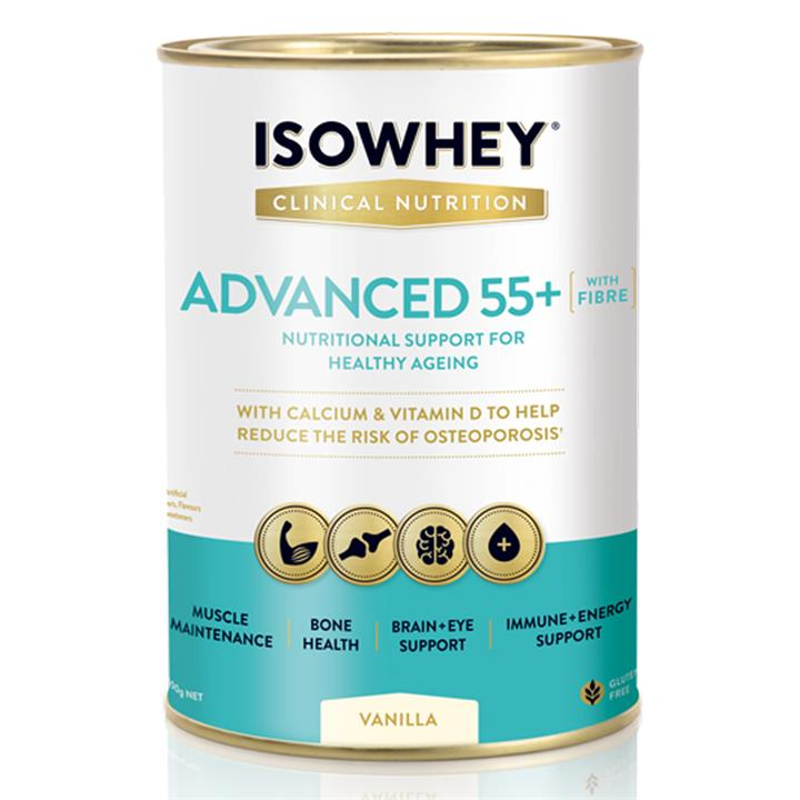 IsoWhey Clinical Nutrition Advanced 55+ Vanilla 400g (Expiry 04/2020)