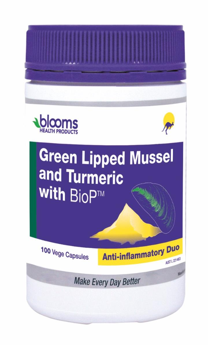 Henry Blooms Green Lipped Mussel & Turmeric with BioP Cap X 100