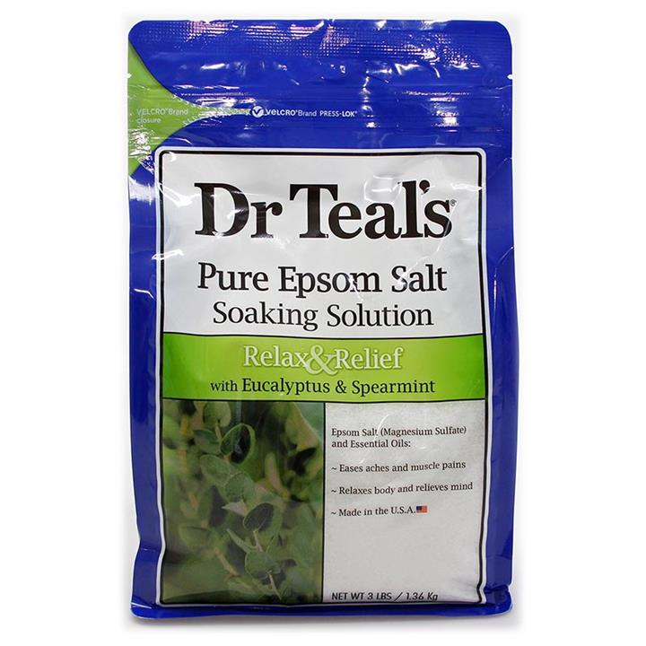 Dr Teal's Pure Epsom Salt Relax & Relief with Eucalyptus & Spearmint 1.36kg