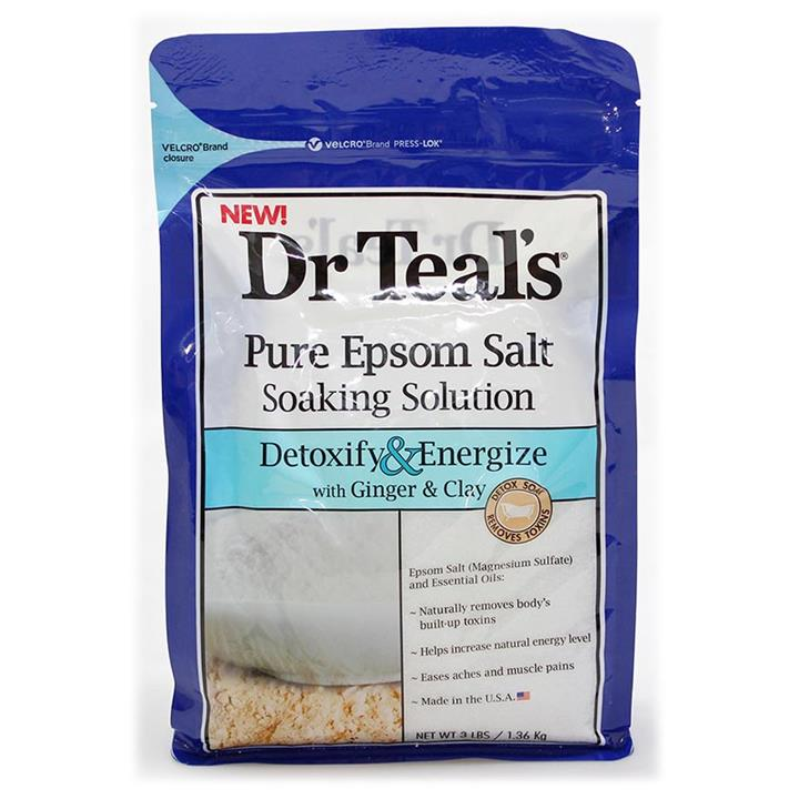 Dr Teal's Pure Epsom Salt Detoxify & Energize with Ginger & Clay 1.36kg