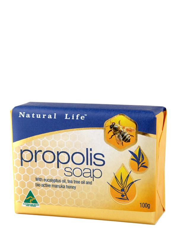 Natural Life Propolis Soap with Tea Tree Eucalyptus & Manuka Honey 100g