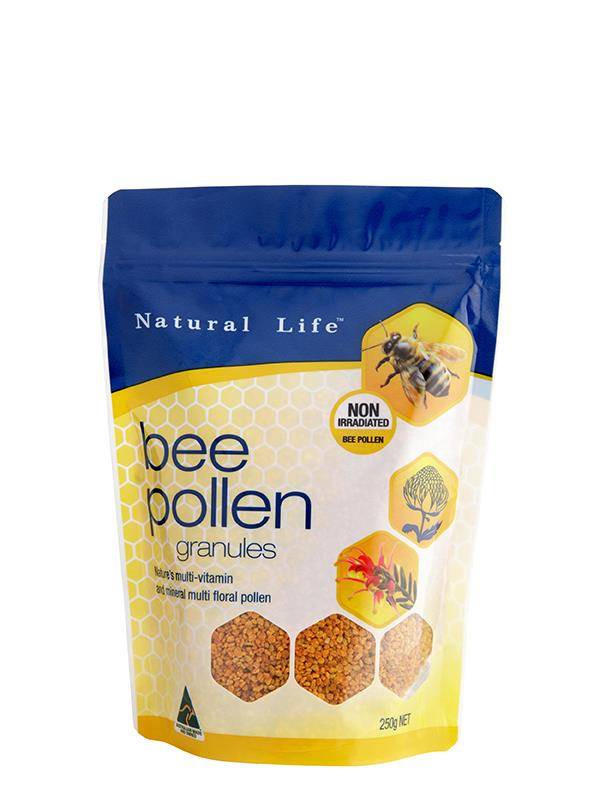 Natural Life Non Irradiated Bee Pollen Granules 250g