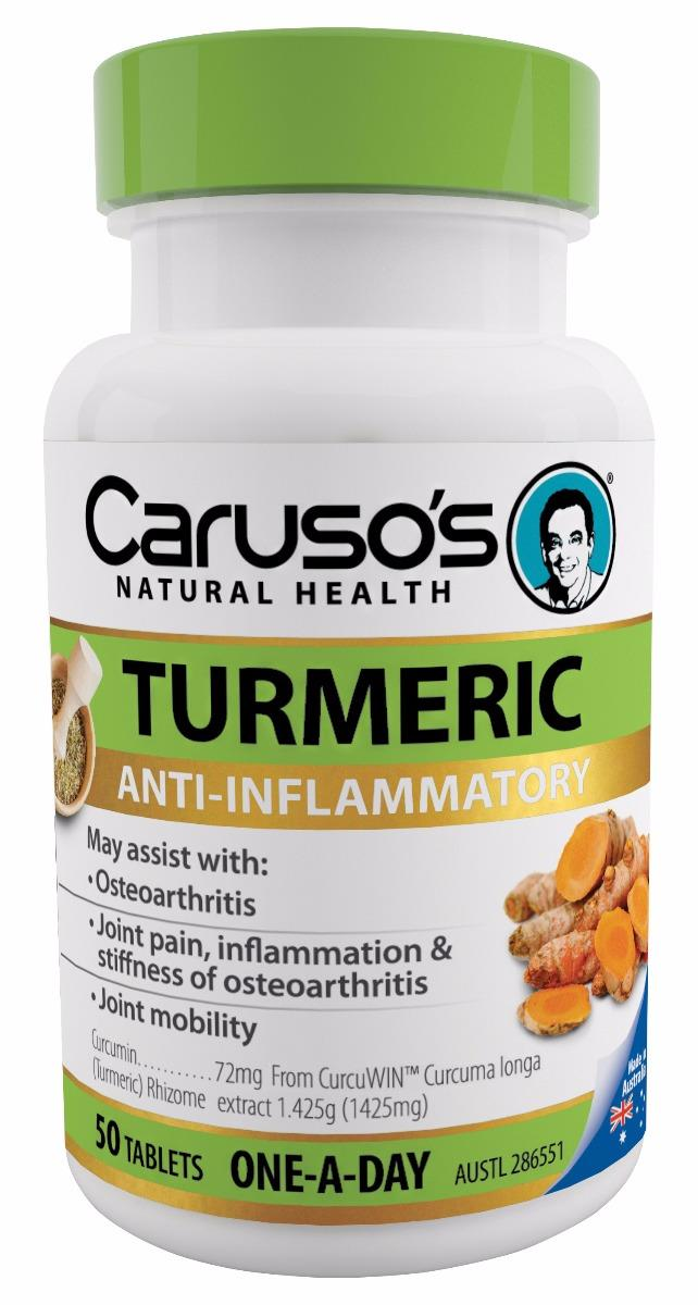 Caruso's Natural Health Turmeric One A Day Tab x 50