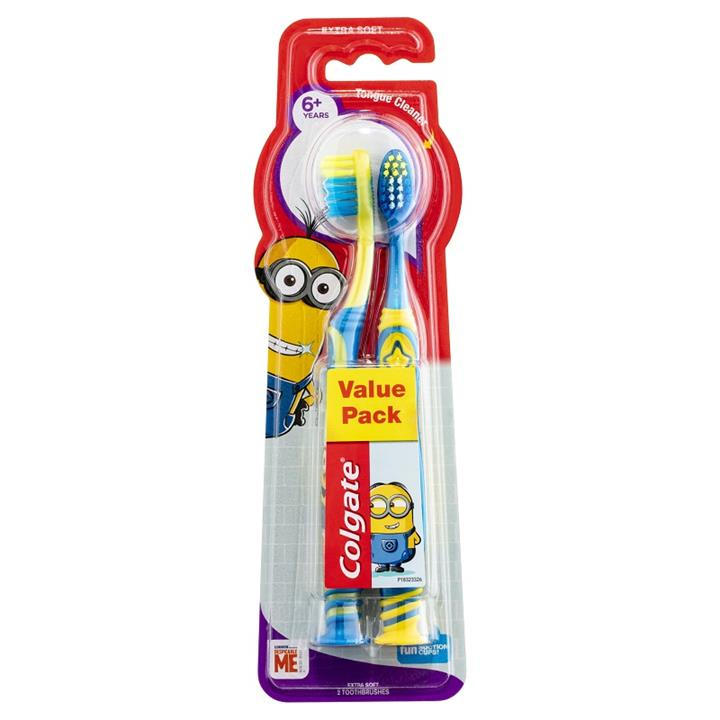 Colgate Kids Extra Soft Toothbrush 6+ Years (Minions) X 2