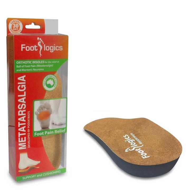 Foot Logics Metatarsalgia Orthotic Insoles (Large)
