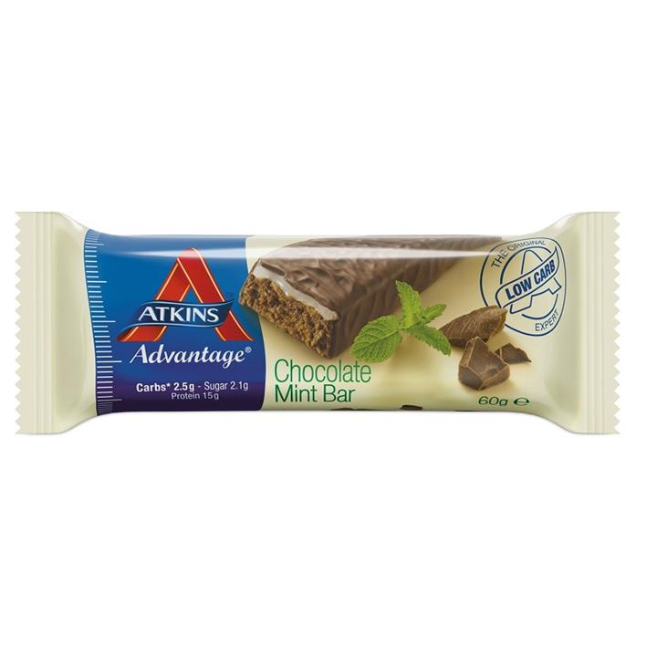 Atkins Advantage Chocolate Mint Bars 60g X 15