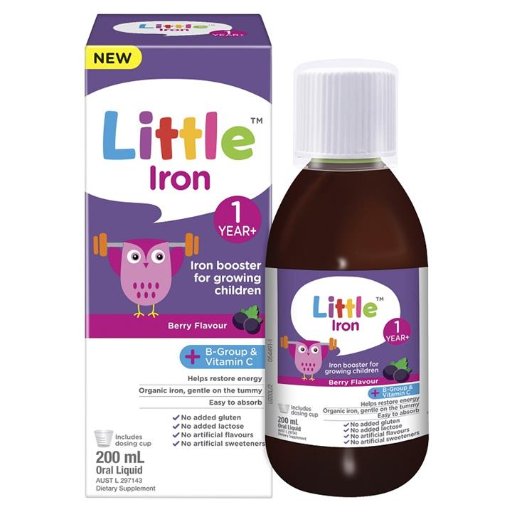 Little Iron 1 Year+ Berry Flavour 200ml
