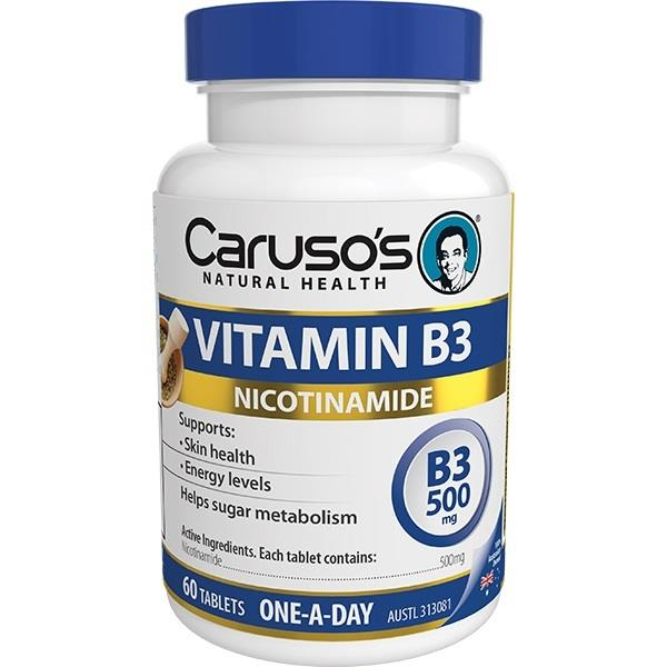 Caruso's Natural Health Vitamin B3 500mg Tab X 60