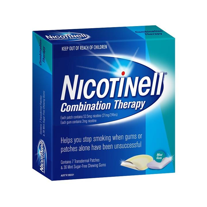 Nicotinell Combination Therapy (21mg Patches X 7 + 2mg Gums X 36)