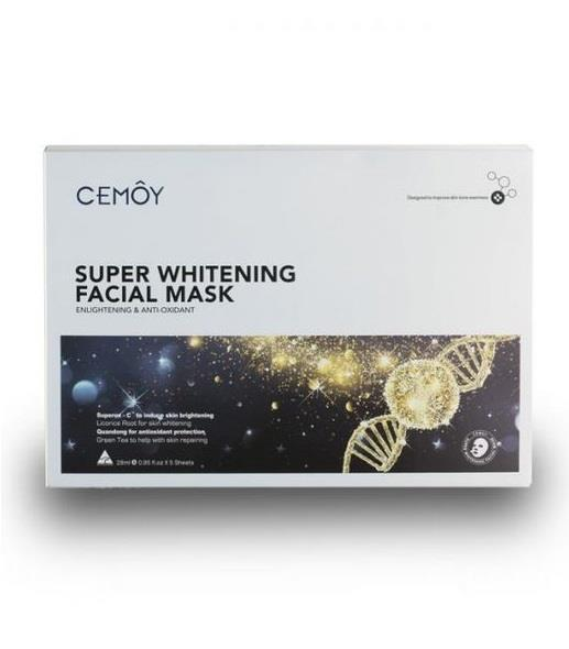 CEMOY Super Whitening Facial Mask Sheets X 5