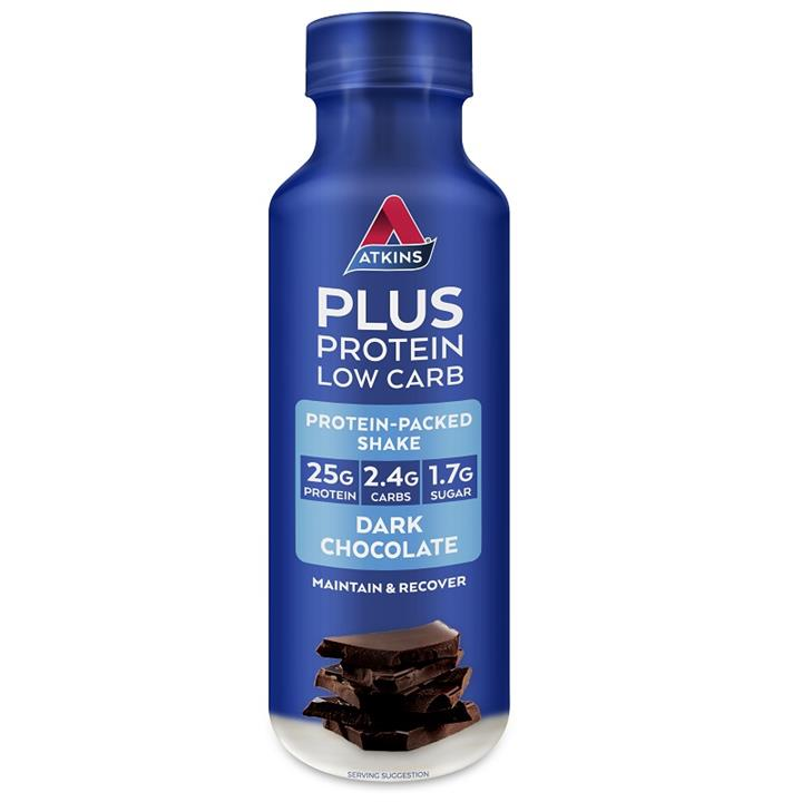 Atkins Plus Protein Low Carb Ready To Drink Shake (Dark Chocolate) 400ml