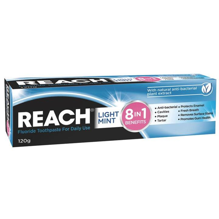 Reach Toothpaste 8 in 1 Light Mint 120g