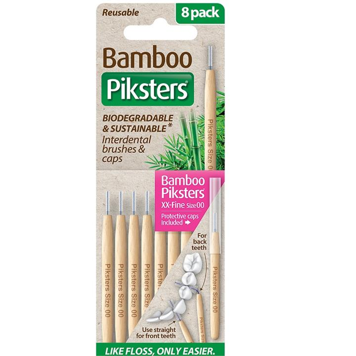 Piksters Bamboo Interdental Brush (Size 00 - Pink) X 8