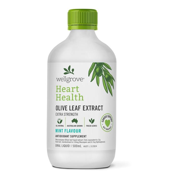 Wellgrove Olive Leaf Extract Heart Health Mint 500ml
