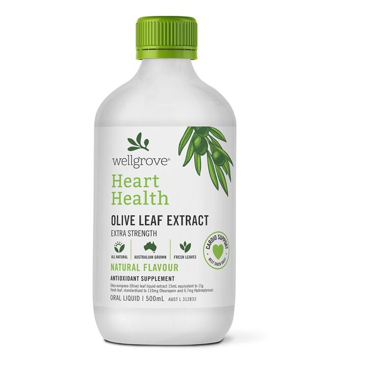 Wellgrove Olive Leaf Extract Heart Health Natural 500ml