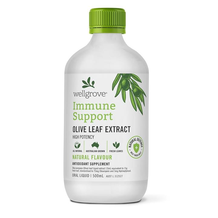 Wellgrove Olive Leaf Extract Immune Support Natural 500ml