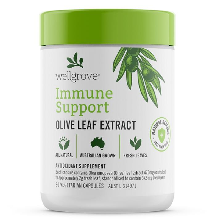 Wellgrove Immune Support Olive Leaf Extract Cap X 60