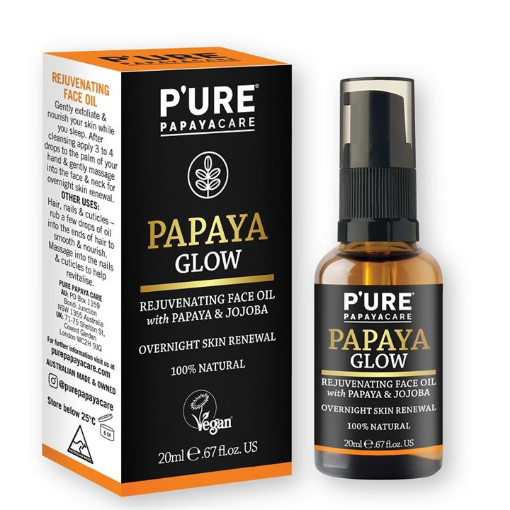PURE Papaya Glow Rejuvenating Face Oil 20ml