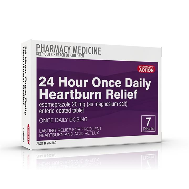 Pharmacy Action 24 Hour Once Daily Heartburn Relief Tab X 7