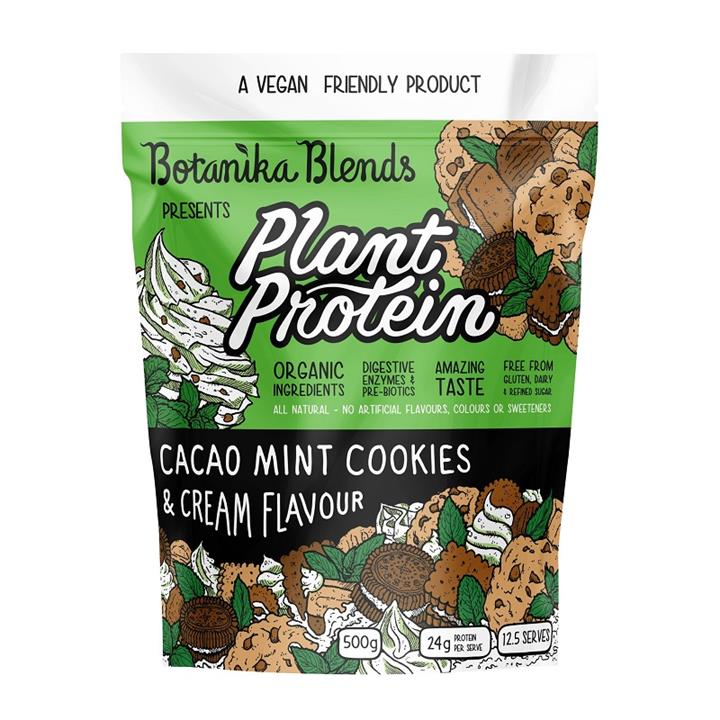 Botanika Blends Plant Protein Cacao Mint Cookies & Cream Flavour 500g