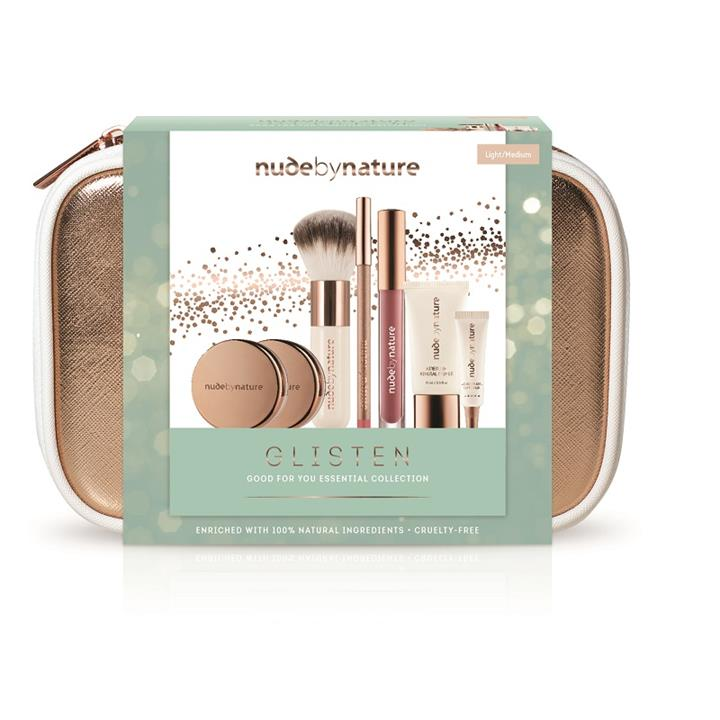 Nude by Nature Glisten Good For You Essential Collection (Light/Medium)