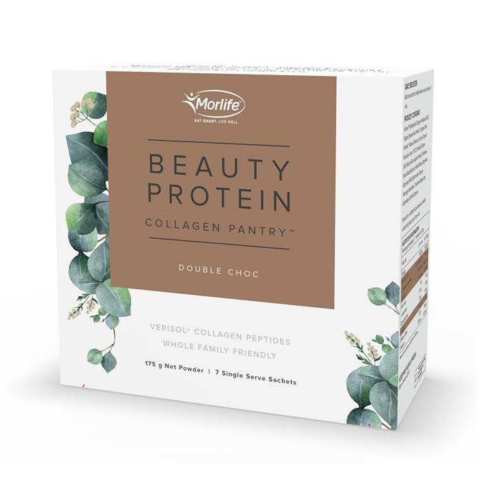 Morlife Collagen Pantry Beauty Protein Double Choc Sachets 25g X 7