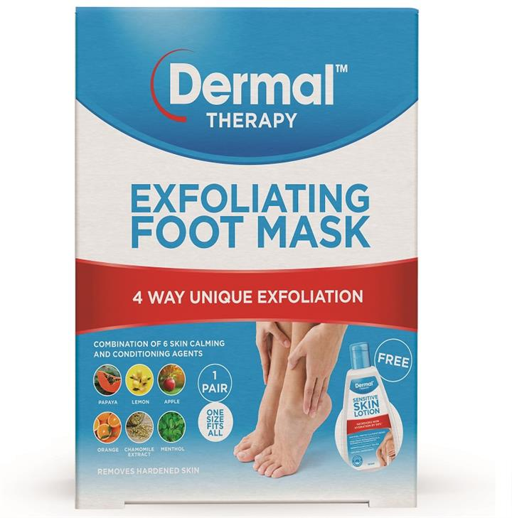 Dermal Therapy Exfoliating Foot Mask Pack