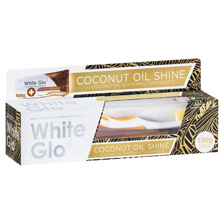White Glo Coconut Oil Shine Whitening Toothpaste 150g