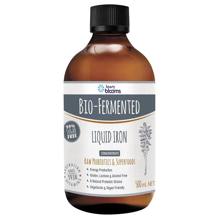 Henry Blooms Bio-Fermented Liquid Iron 500ml