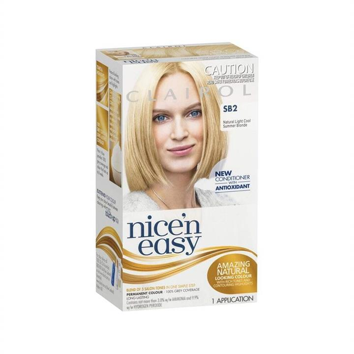 Clairol Nice 'N Easy Permanent Hair Colour SB2 Natural Light Cool Summer Blonde