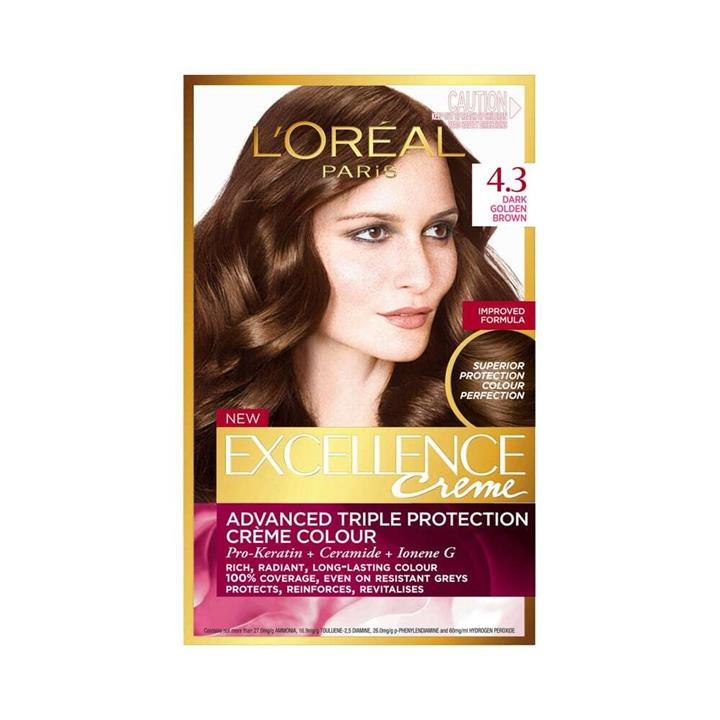 L'Oreal Excellence Creme Hair Colour 4.3 Dark Golden Brown