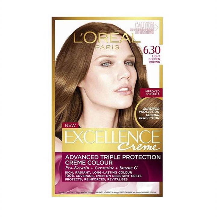 L'Oreal Excellence Creme Hair Colour 6.30 Light Golden Brown