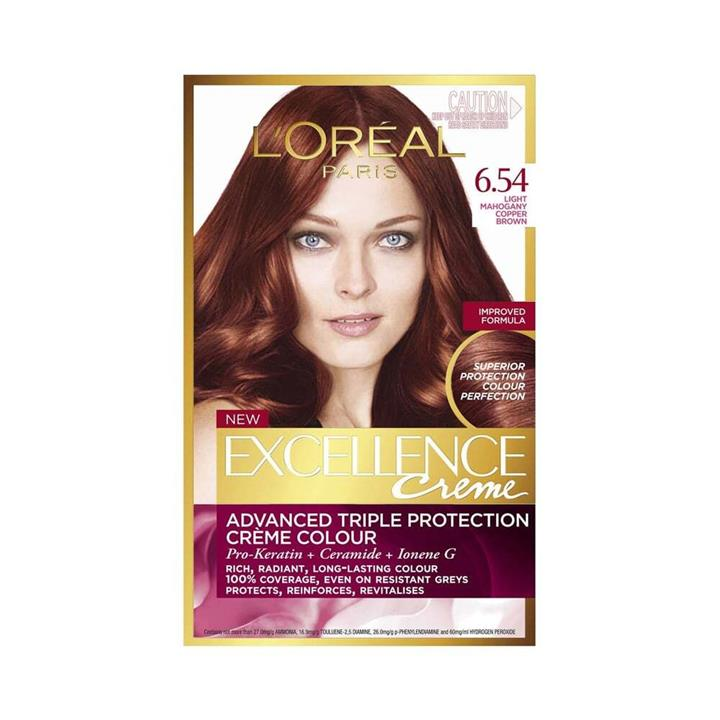 L'Oreal Excellence Creme Hair Colour 6.54 Light Mahogany Copper Brown
