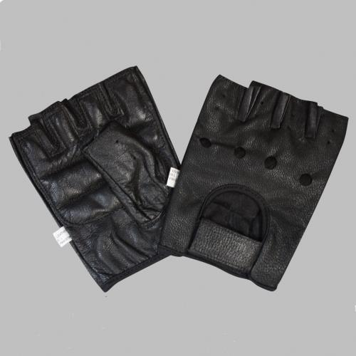 Bronx Black Leather Gloves