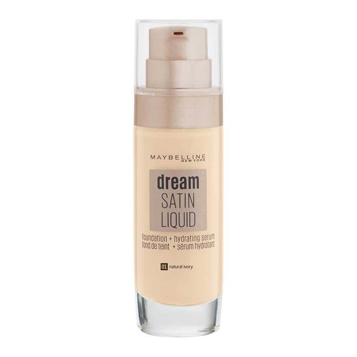 Maybelline Dream Satin Liquid Foundation + Hydrating Serum 01 Natural Ivory 30ml