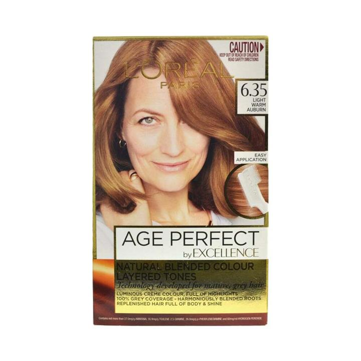 L'Oreal Age Perfect Permanent Hair Colour 6.35 Light Warm Auburn