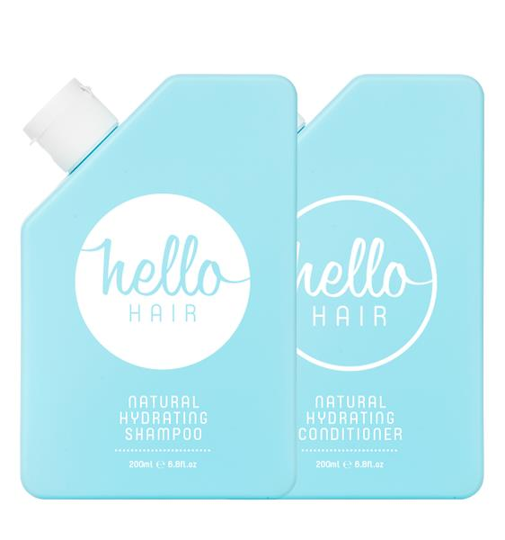 Hello Hair Natural Hydrating Shampoo & Conditioner Duo 2 x 200ml