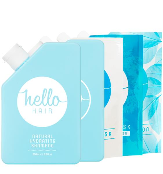 Hello Hair Hydrate Your Hair Pack 5 items