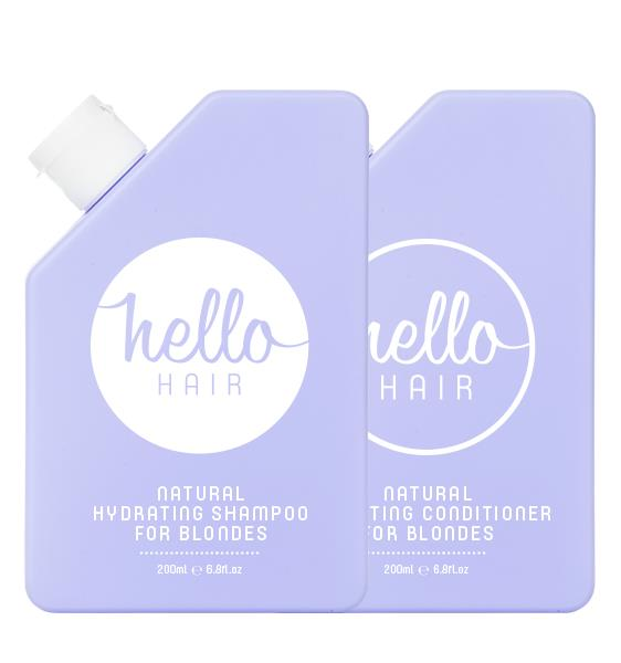 Hello Hair Natural Hydrating Shampoo & Conditioner For Blondes Duo 2 x 200ml