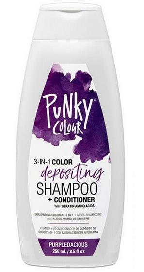 Punky Colour 3-in-1 Color-Depositing Shampoo + Conditioner - Purpledacious 250ml