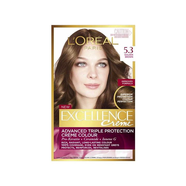 L'Oreal Excellence Creme Hair Colour 5.3 Golden Brown