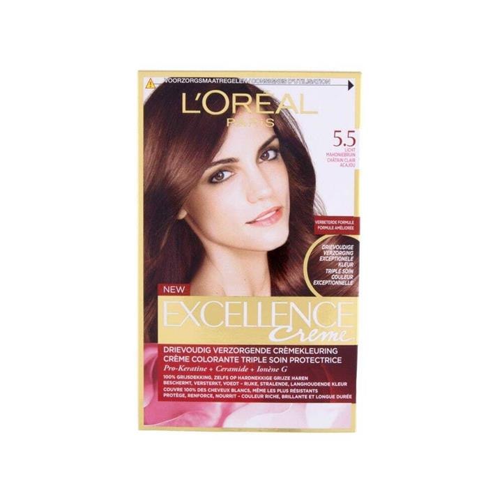 L'Oreal Excellence Creme Hair Colour 5.5 Mahogany Brown