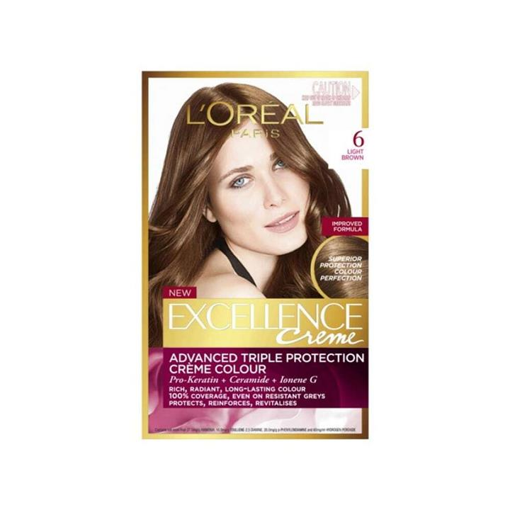 L'Oreal Excellence Creme Hair Colour 6 Light Brown