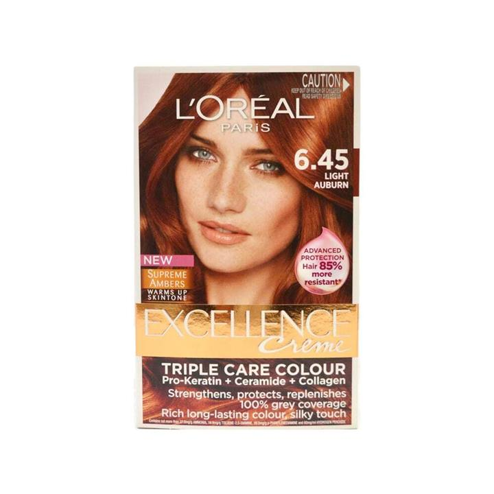 L'Oreal Excellence Creme Hair Colour 6.45 Light Auburn