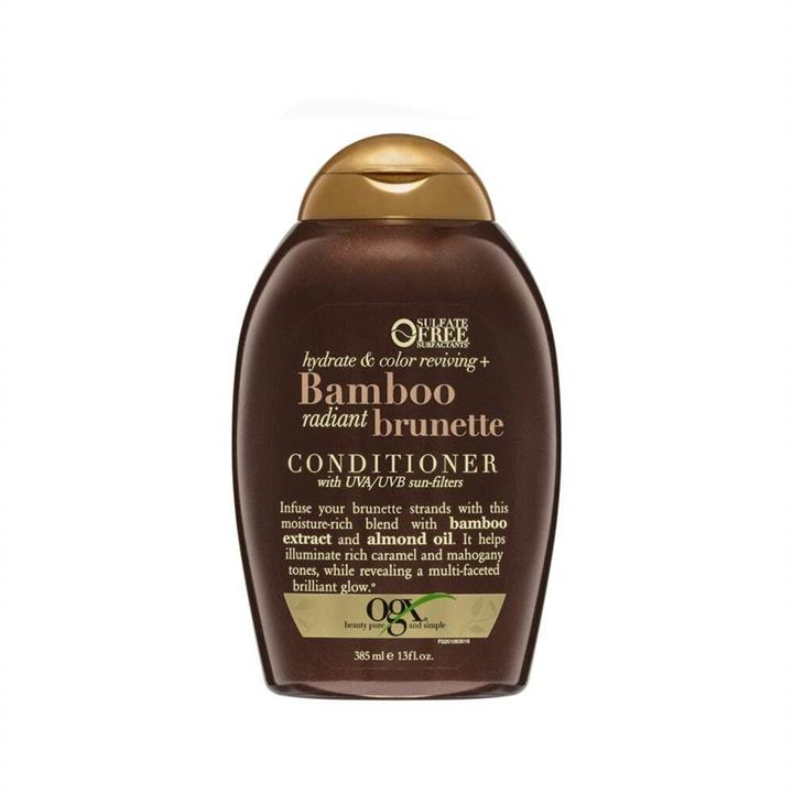 OGX Conditioner Hydrate & Colour Reviving + Bamboo Radiant Brunette 385ml