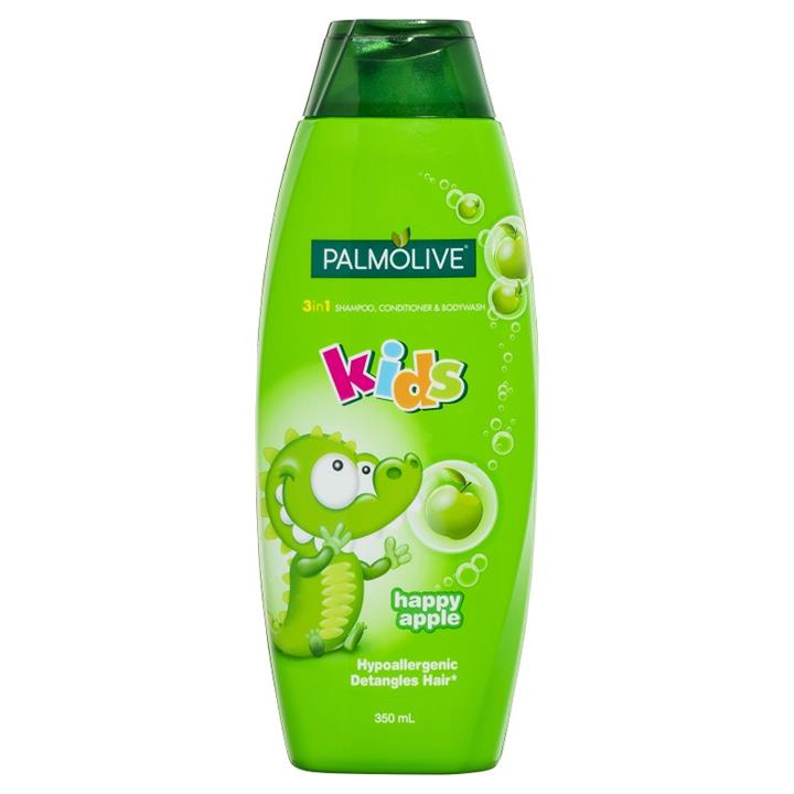 Palmolive Kids 3 in 1 Shampoo, Conditioner & Body Wash (Happy Apple) 350ml