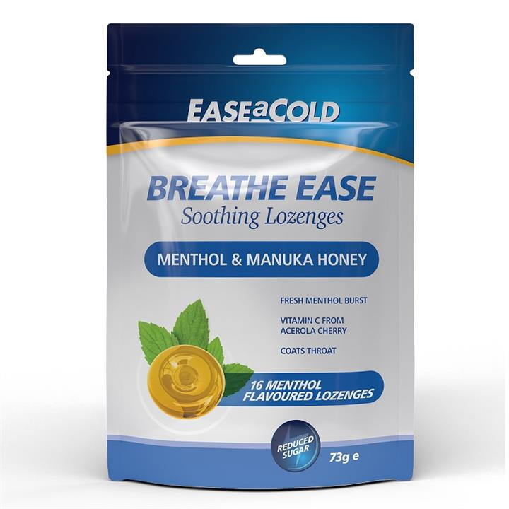 Ease A Cold Breathe Ease Soothing Lozenges (Menthol & Honey) X 16